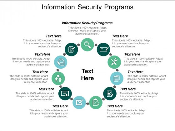 Information Security Programs Ppt PowerPoint Presentation Ideas Design Inspiration Cpb