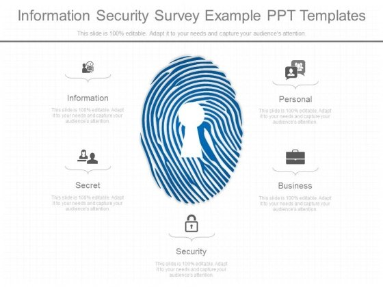 Information security survey example ppt templates powerpoint templates toneelgroepblik Images