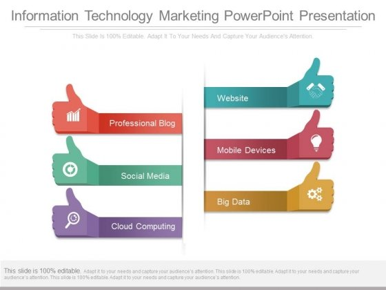 Information Technology Marketing Powerpoint Presentation