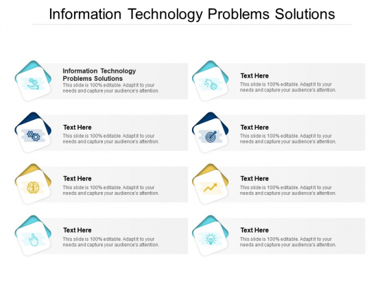 Information Technology Problems Solutions Ppt PowerPoint Presentation Outline Background Cpb