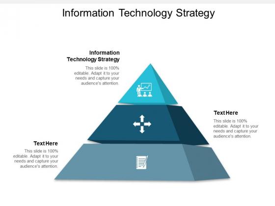 Information Technology Strategy Ppt PowerPoint Presentation Portfolio Deck Cpb