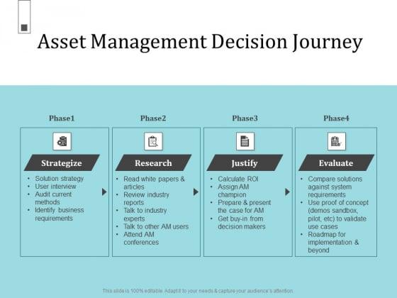 Infrastructure Project Management In Construction Asset Management Decision Journey Brochure PDF