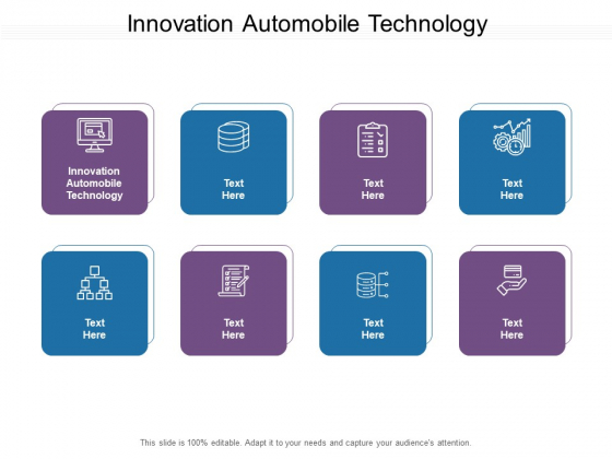 Innovation Automobile Technology Ppt PowerPoint Presentation Pictures Images Cpb Pdf