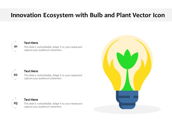 Innovation Ecosystem With Bulb And Plant Vector Icon Ppt PowerPoint Presentation Gallery Good PDF