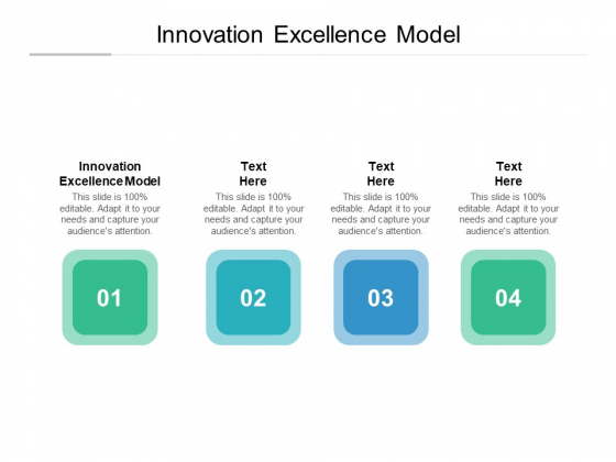 Innovation Excellence Model Ppt PowerPoint Presentation File Introduction Cpb Pdf