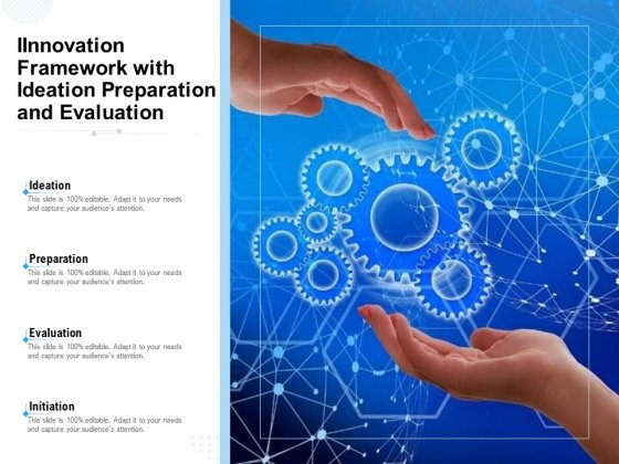 Innovation Framework With Ideation Preparation And Evaluation Ppt PowerPoint Presentation Gallery Graphic Images PDF