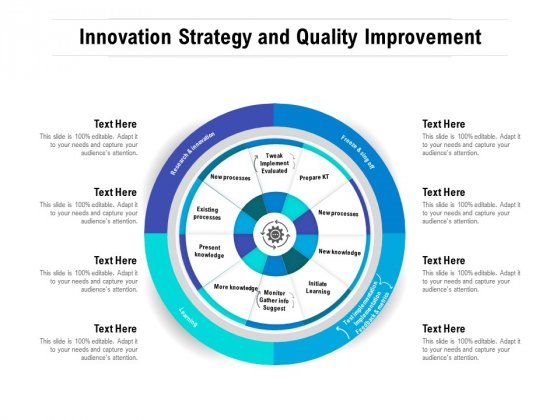 Innovation Strategy And Quality Improvement Ppt PowerPoint Presentation Inspiration Gallery PDF
