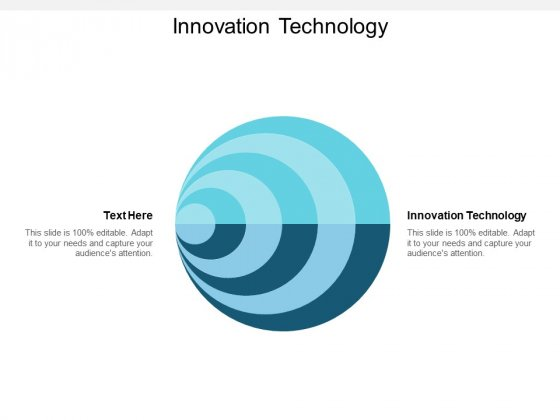 Innovation Technology Ppt PowerPoint Presentation Infographic Template Graphics Cpb