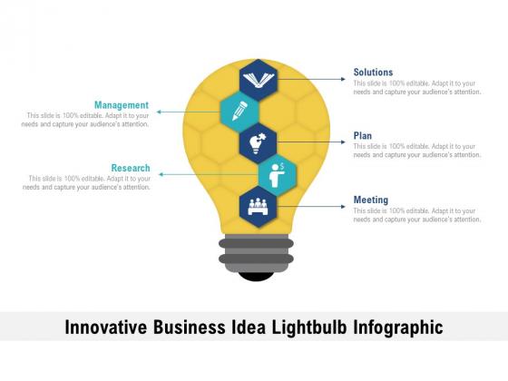 Innovative Business Idea Lightbulb Infographic Ppt PowerPoint Presentation Slides Good PDF