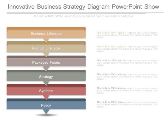 Innovative Business Strategy Diagram Powerpoint Show