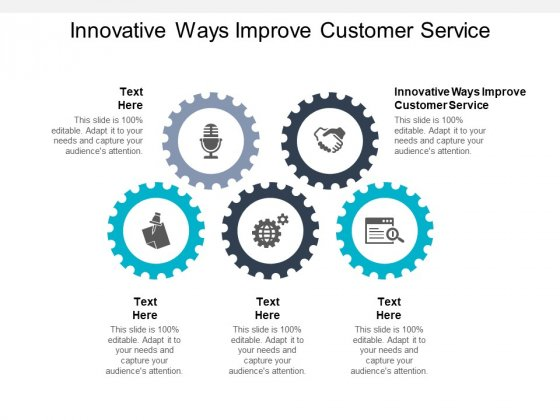 Innovative Ways Improve Customer Service Ppt PowerPoint Presentation File Visuals Cpb