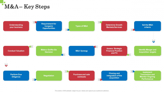 Inorganic Growth Business M And A Key Steps Ppt File Brochure PDF
