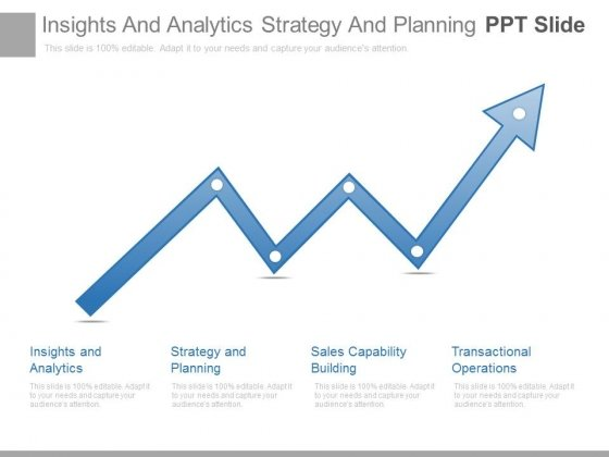 Insights And Analytics Strategy And Planning Ppt Slide