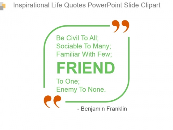 Inspirational Life Quotes Powerpoint Slide Clipart