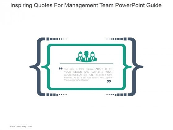 Inspiring Quotes For Management Team Ppt PowerPoint Presentation Show
