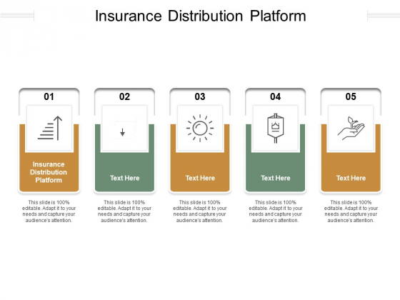 Insurance Distribution Platform Ppt PowerPoint Presentation Show Inspiration Cpb Pdf