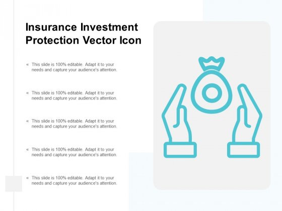 Insurance Investment Protection Vector Icon Ppt Powerpoint Presentation Infographics Example