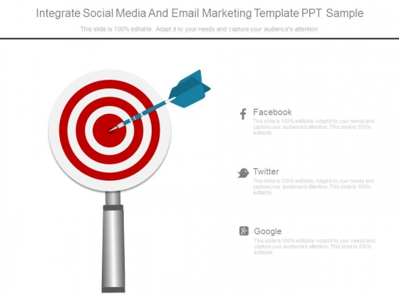 Integrate Social Media And Email Marketing Template Ppt Sample