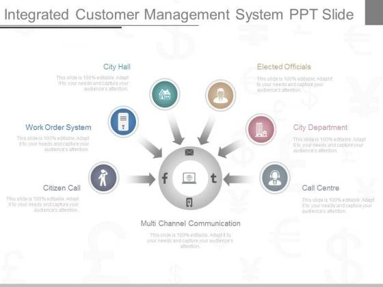 Integrated Customer Management System Ppt Slide