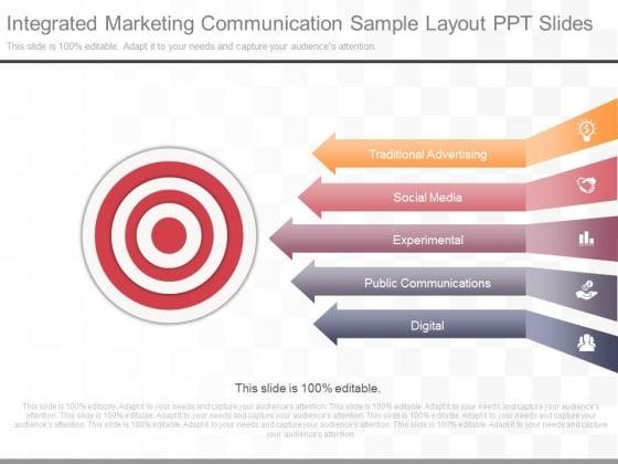 Integrated Marketing Communication Sample Layout Ppt Slides
