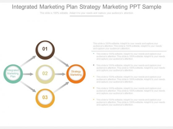 Integrated Marketing Plan Strategy Marketing Ppt Sample