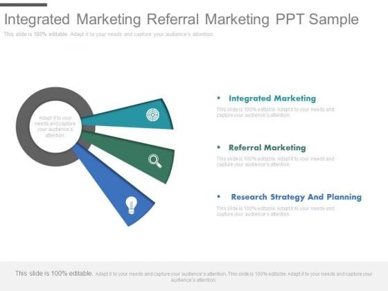 Integrated Marketing Referral Marketing Ppt Sample