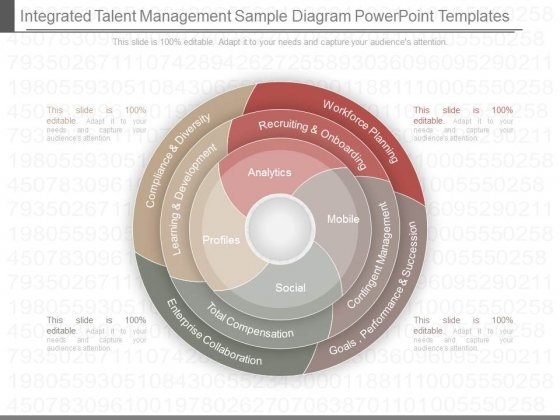 Integrated Talent Management Sample Diagram Powerpoint Templates
