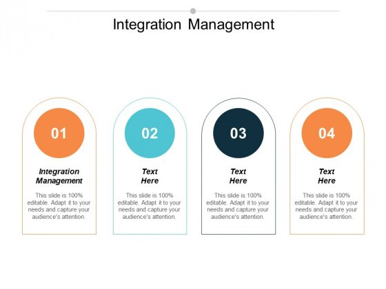 Integration Management Ppt PowerPoint Presentation Professional Example Cpb