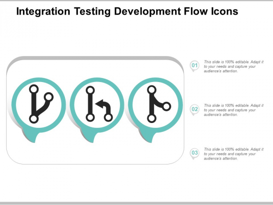 Integration Testing Development Flow Icons Ppt Powerpoint Presentation Topics