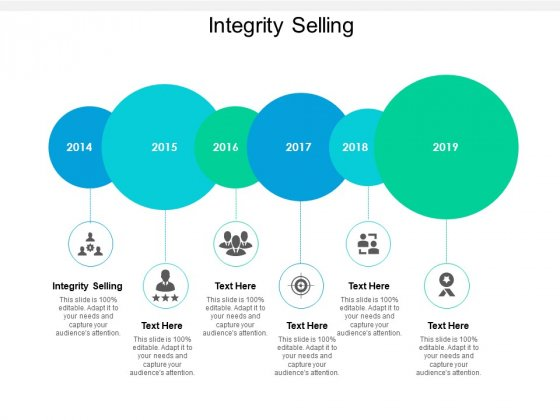 Integrity Selling Ppt PowerPoint Presentation Slides Example Introduction Cpb