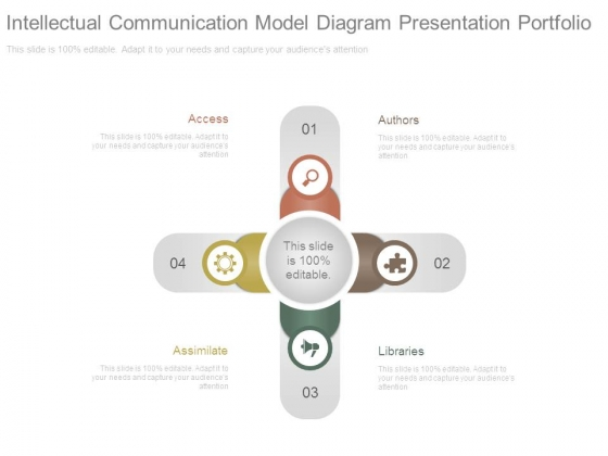 Intellectual Communication Model Diagram Presentation Portfolio