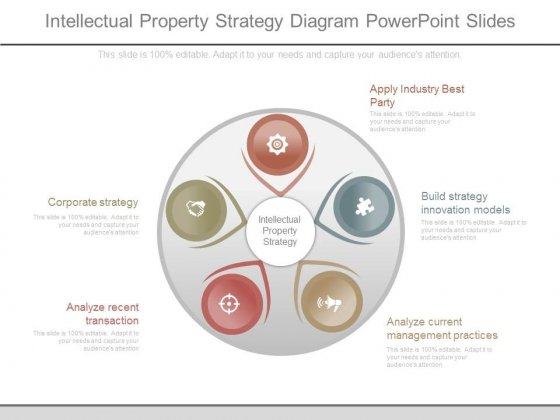 Intellectual Property Strategy Diagram Powerpoint Slides