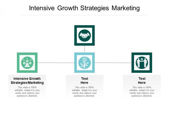 Intensive Growth Strategies Marketing Ppt PowerPoint Presentation Show Slide Cpb