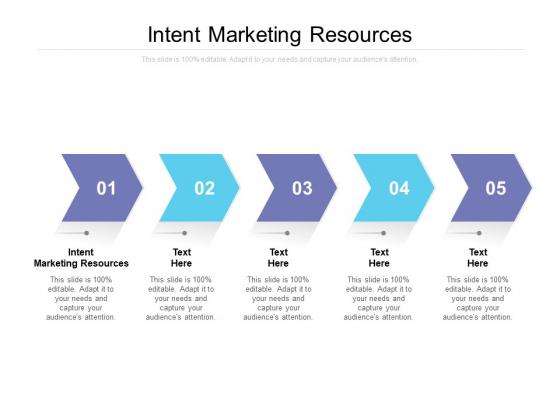 Intent Marketing Resources Ppt PowerPoint Presentation Slides Cpb