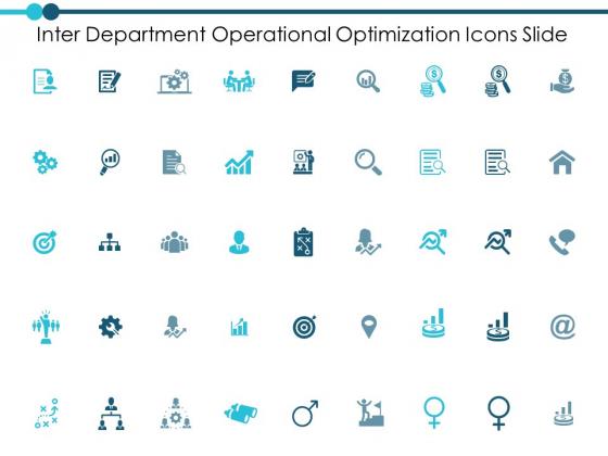 Inter Department Operational Optimization Icons Slide Ppt PowerPoint Presentation Inspiration Master Slide