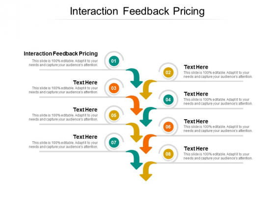 Interaction Feedback Pricing Ppt PowerPoint Presentation Slides Show Cpb Pdf