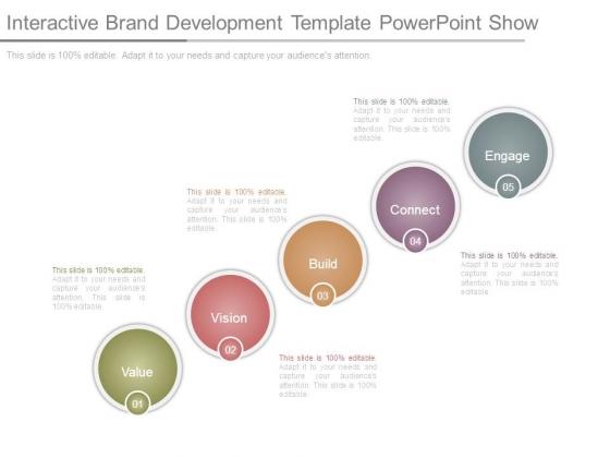 Interactive Brand Development Template Powerpoint Show