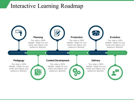 Interactive Learning Roadmap Ppt PowerPoint Presentation Infographic Template Slides
