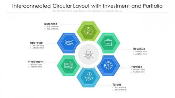 Interconnected Circular Layout With Investment And Portfolio Ppt Portfolio Designs PDF