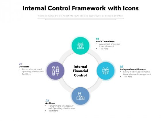 Internal Control Framework With Icons Ppt PowerPoint Presentation Infographics Background PDF