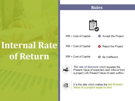 Internal Rate Of Return Ppt PowerPoint Presentation Professional Skills