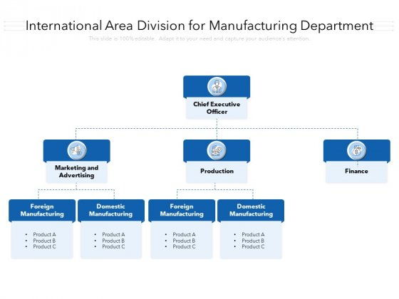 International Area Division For Manufacturing Department Ppt PowerPoint Presentation Icon Files PDF