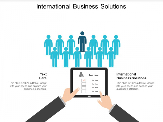 International Business Solutions Ppt PowerPoint Presentation Inspiration Show Cpb