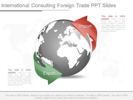 International Consulting Foreign Trade Ppt Slides