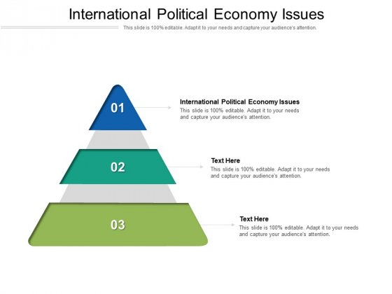 International Political Economy Issues Ppt PowerPoint Presentation Professional Format Cpb Pdf