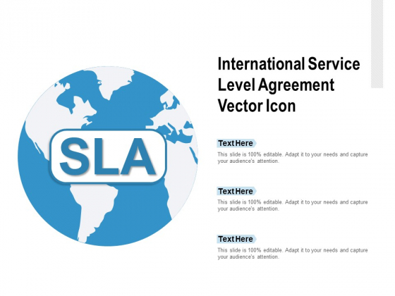 International Service Level Agreement Vector Icon Ppt PowerPoint Presentation Model Influencers
