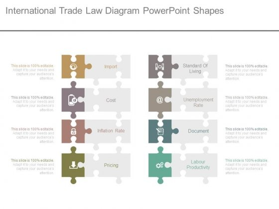 International Trade Law Diagram Powerpoint Shapes