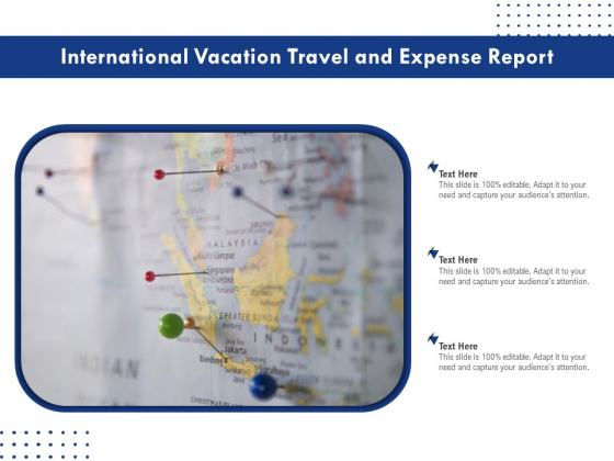 International Vacation Travel And Expense Report Ppt PowerPoint Presentation Gallery Design Templates PDF