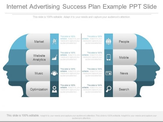 Internet Advertising Success Plan Example Ppt Slide