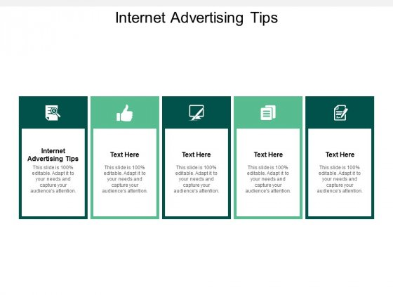 internet advertising tips ppt powerpoint presentation layouts maker cpb